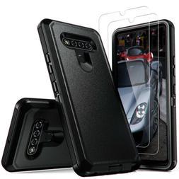 For LG K51/Stylo 6 Phone Case Hybrid Cover +Tempered Glass S