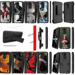 For LG K7 | LG Tribute 5 Stand Holster Clip Hybrid Armor Cas