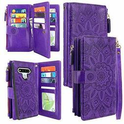 LG Stylo 6 Case, Harryshell Detachable Magnetic Zipper Walle