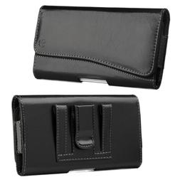 Luxmo Leather Holster Belt Clip Case Pouch For iPhone Samsun