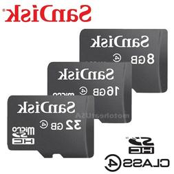 SanDisk Micro SD Card 8GB 16GB 32GB Memory Class 4 for Table