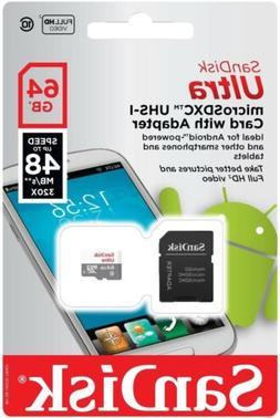 SanDisk 64GB microSD 64G microSDXC Ultra 48MB/s UHS-I C10 mi