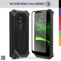 Motorola Moto G7 Play Heavy Duty Phone Case with Glass Scree