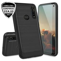 For Motorola Moto G Power 2020 Case Brushed Armor Rubber Cov
