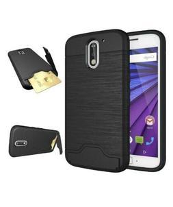 Motorola MotoG4 / Moto G4 Plus Slim Hard Case with Credit Ca