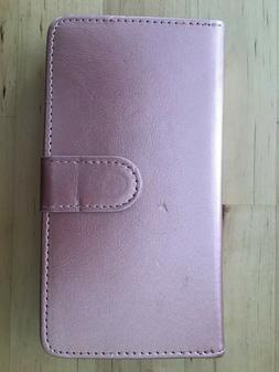 Njjex For Moto Z3 Wallet CasePU Leather 9 Card Slots ID SOME