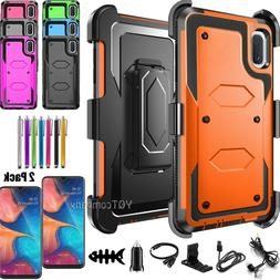 For Samsung Galaxy A10e Case Shockproof Rugged Cover Belt Cl