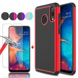 For Samsung Galaxy A10e A20 A50 Shockproof Phone Case + Glas