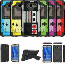 For Samsung Galaxy J7  Shockproof Kickstand Bumper Case - Re