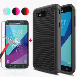 For Samsung Galaxy J7 Prime/Sky Pro/J7 V/Perx Case Cover+Gla
