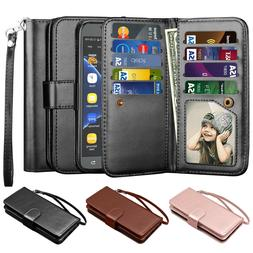 Samsung Galaxy J7 Sky Pro / J7 Prime Leather Wallet Credit C