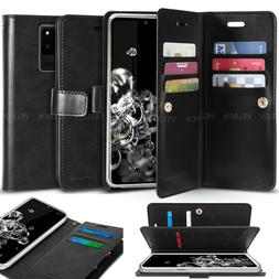 For Galaxy S20+ Ultra Note10+ 9 8 Dual Shockproof Flip Walle