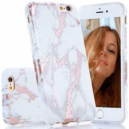 BAISRKE Shiny Rose Gold White Marble Design Slim Flexible So