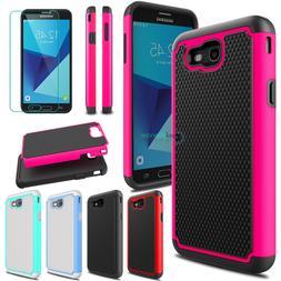 Shockproof Hybrid Phone Cover Case for Samsung Galaxy J7 V/J