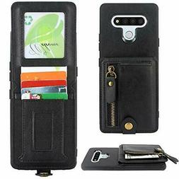 Harryshell Shockproof Slim Leather Zipper LG Stylo 6 Wallet