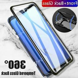 Tempered Glass Magnetic Adsorption Two Side Phone Cases For
