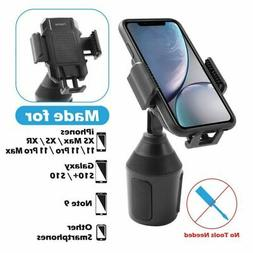 Universal 360° Adjustable Phone Mount Car Cup Holder Stand