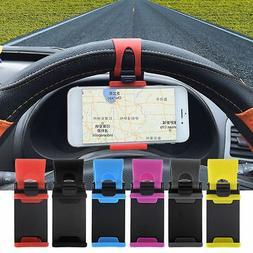 Universal Car Steering Wheel Mobile Cell Phone Holder GPS Br
