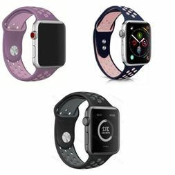 Apple Watch Series 4 3 2 1, Silicone Sport Watch Band Access