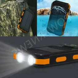 waterproof 500000mah dual usb portable solar charger