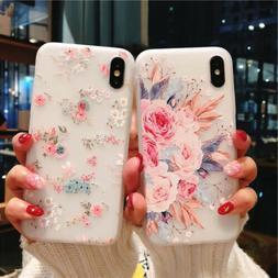 Women For I Phone X 8 6 6S 7 Plus Fashion Flower 3D Cute Cas