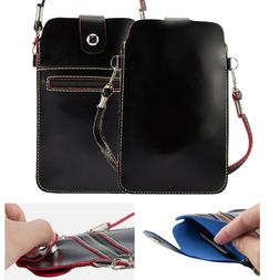 Women's Crossbody Leather Shoulder Bag Zipper Purse Card Wal