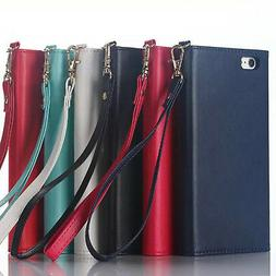Women's Fashion Deluxe Leather Card Wallet Cover Case For iP