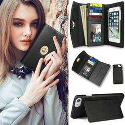 Women's Phone Wallet Card Case Multi-purpose Leather Clutch