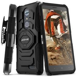 ZTE MAX XL Case, Evocel Rugged Dual Layer Holster Case w/ Ki